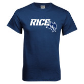 Navy T Shirt-Rice With Owl Head