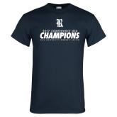 Navy T Shirt-2017 Womens Soccer Champions