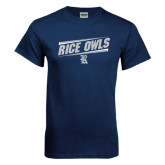 Navy T Shirt-Rice Owls Athletic Design