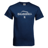 Navy T Shirt-Stacked Stiches Baseball Design