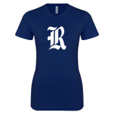 Next Level Ladies SoftStyle Junior Fitted Navy Tee-R