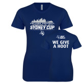 Next Level Ladies SoftStyle Junior Fitted Navy Tee-2017 College Football Sydney Cup