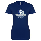 Next Level Ladies SoftStyle Junior Fitted Navy Tee-2018 CUSA Volleyball Champions