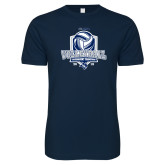 Next Level SoftStyle Navy T Shirt-2018 CUSA Volleyball Champions