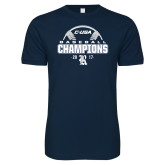Next Level SoftStyle Navy T Shirt-Conference USA Baseball Champions