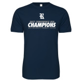Next Level SoftStyle Navy T Shirt-2017 Womens Soccer Champions