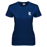 Ladies Navy T Shirt-R