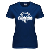 Ladies Navy T Shirt-Conference USA Baseball Champions
