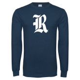 Navy Long Sleeve T Shirt-R