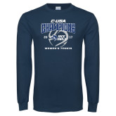 Navy Long Sleeve T Shirt-Conference USA Womens Tennis Champions