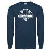 Navy Long Sleeve T Shirt-Conference USA Baseball Champions