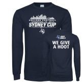 Navy Long Sleeve T Shirt-2017 College Football Sydney Cup