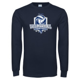 Navy Long Sleeve T Shirt-2018 CUSA Volleyball Champions