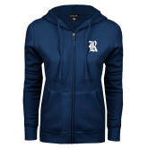 ENZA Ladies Navy Fleece Full Zip Hoodie-R