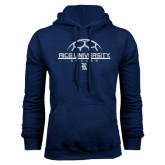 Navy Fleece Hood-Soccer Design
