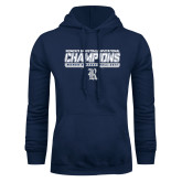 Navy Fleece Hoodie-Womens Basketball Invitational Champions Stencil