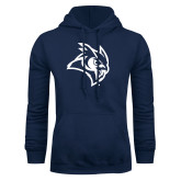 Navy Fleece Hoodie-Owl Head