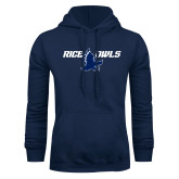 Navy Fleece Hoodie-Rice Owls Full Owl