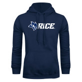 Navy Fleece Hoodie-Owl Head Rice