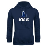 Navy Fleece Hoodie-Full Owl Rice Stacked