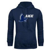 Navy Fleece Hoodie-Full Owl Rice