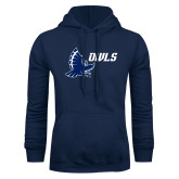 Navy Fleece Hood-Full Owl Owls