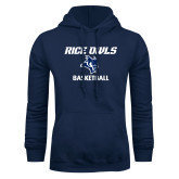 Navy Fleece Hoodie-Basketball