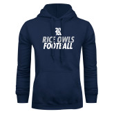 Navy Fleece Hood-Football