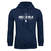 Navy Fleece Hoodie-Volleyball