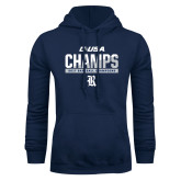 Navy Fleece Hoodie-Conference USA Baseball Champions