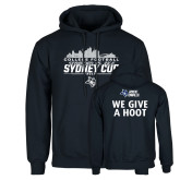 Navy Fleece Hoodie-2017 College Football Sydney Cup