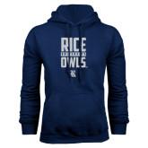 Navy Fleece Hood-Rice University Owls
