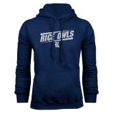 Navy Fleece Hood-Rice Owls Athletic Design