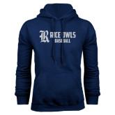Navy Fleece Hood-Baseball