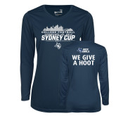 Ladies Syntrel Performance Navy Longsleeve Shirt-2017 College Football Sydney Cup