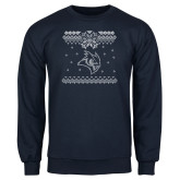 Navy Fleece Crew-Owl - Ugly Christmas Sweater