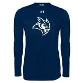 Under Armour Navy Long Sleeve Tech Tee-Owl Head