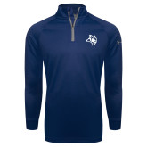 Under Armour Navy Tech 1/4 Zip Performance Shirt-Owl Head