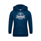 Youth Navy Fleece Hoodie-Womens Basketball Invitational Champions Ball