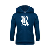 Youth Navy Fleece Hoodie-R
