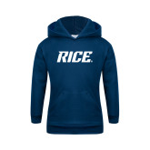 Youth Navy Fleece Hoodie-Rice