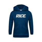 Youth Navy Fleece Hood-Rice