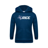 Youth Navy Fleece Hoodie-Owl Head Rice