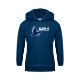 Youth Navy Fleece Hoodie-Full Owl Owls