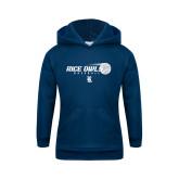 Youth Navy Fleece Hoodie-Baseball