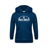 Youth Navy Fleece Hoodie-Football