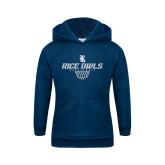Youth Navy Fleece Hood-Basketball