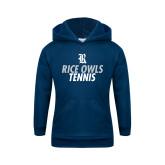 Youth Navy Fleece Hood-Tennis