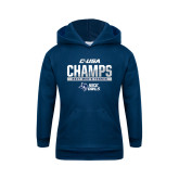 Youth Navy Fleece Hoodie-Conference USA Mens Tennis Champions