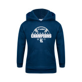 Youth Navy Fleece Hoodie-Conference USA Baseball Champions
